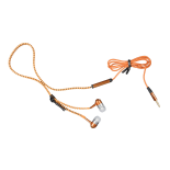 Casti audio In-ear Zipper cu microfon, auriu