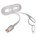 Cablu de date/incarcare microUSB + Adaptor PNY Lightning Apple, ALB