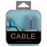 Cablu de date/incarcare microUSB + Adaptor PNY Lightning Apple, BLEU