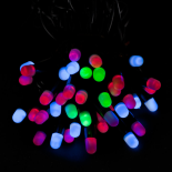 Instalatie 40 LED-uri statice Holly, multicolor, 5 m
