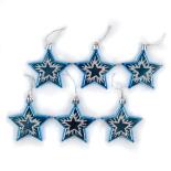 Set Holly 6 stelute pictate - albastru