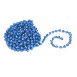 Sirag margele decorative Holly, albastru, 3 m x 10 mm