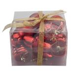 Set 10 figurine (mix accesorii pentru brad) Holly - rosu