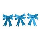 Set 3 fundite cu sclipici Holly, albastru, 10 cm