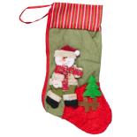 Cizmulita cadou Holly, model Santa om de zapada, 47 x 18 cm