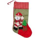 Cizmulita cadou Holly, Santa ursulet, 47 x 18 cm