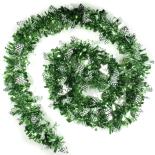 Beteala decorativa Holly cu braduti 8cm x 2m verde
