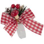 Inel festiv Holly pentru servetele, 10 cm