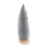 Bradut Holly decorativ 22cm argintiu