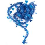 Beteala Holly inimioare cu reflexii 6cm x 2m, albastru