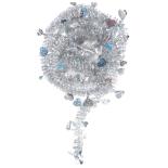 Beteala Holly inimioare cu reflexii 6cm x 2m, argintiu
