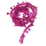 Beteala Holly inimioare cu reflexii 6cm x 2m, roz