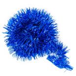 Beteala decorativa Holly, cu reflexii, 2m x 6cm, albastru