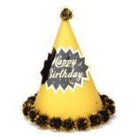 Coif funny petrecere Eventy auriu, 18 cm