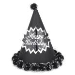 Coif funny petrecere Eventy negru, 18 cm