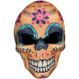Masca Eventy Dia de los muertos portocaliu