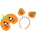 Set Eventy masca si bentita Halloween, Dovleac