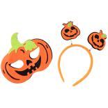 Set Eventy masca si bentita Halloween, Evil Pumpkin