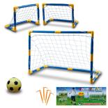 Set de fotbal 2 in 1 KING SPORT, galben/albastru