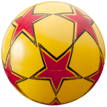 Minge Fotbal  22cm galbena