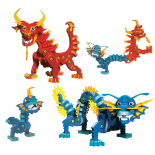 Set Puzzle 3D BLOCKS Fire&Frost Dragons