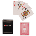 Set carti de joc Action Poker Club 8.7x6.2 cm, rosu