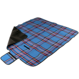 Patura de picnic Action One Scotish Pattern, impermeabila, 130x150cm, albastru
