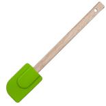 Spatula din silicon Gemma, cu maner din lemn, 29x5 cm, verde