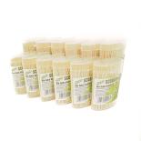 Set 12 cutii scobitori bambus Gemma 200 buc