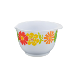 Bol de mixer Gemma, Seria Orange Flowers, capacitate 3L, 25 x13 cm