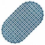 Covoras de baie antiderapant, oval, 67X37cm, albastru