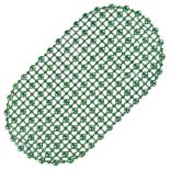Covoras de baie antiderapant, oval, 67X37cm, verde