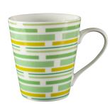 Cana ceramica conica Gemma, 300 ml, 9x10 cm, verde