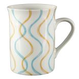Cana ceramica Gemma, 300 ml, 8x10 cm, albastru galben