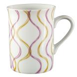Cana ceramica amfora Gemma, 300 ml, 8x10 cm, violet galben