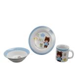 Set din ceramica bleu pentru copii, Forest Friends
