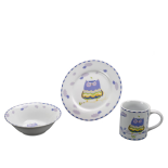 Set din ceramica pentru copii, Forest Friends - Purple Owl