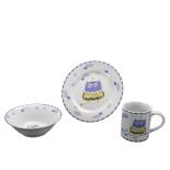Set din ceramica pentru copii, Forest Friends - Purple Owl