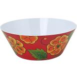 Castron Gemma, rotund, 1.6L, model floral, rosu / portocaliu, 1 Stx