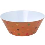 Castron Gemma, rotund, 3.5l, model cu buline, portocaliu, 1 Stx