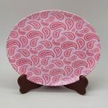 Farfurie Gemma intinsa 23 cm 15STX, model paisley roz