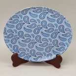 Farfurie Gemma intinsa 23 cm 9STX, model paisley albastru