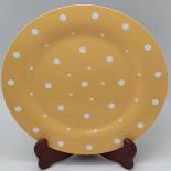 Farfurie Gemma, intinsa, 26 cm, bej, buline, 11Stx