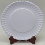 Farfurie Gemma, intinsa, 26 cm, alb, uni, 5Stx