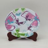 Farfurie Gemma pentru desert 3STX, 20 cm, alba cu imprimeu