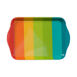 Tavita mica cu manere pentru servit din melamina Rainbow, 21X14 cm