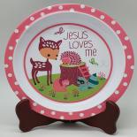 Farfurie Gemma, pentru copii, 21 cm, roz, 11Stx