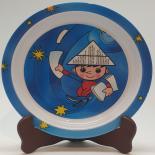 Farfurie Gemma, pentru copii, 21 cm, albastru, 17Stx