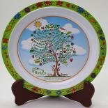Farfurie Gemma, pentru copii, 21 cm, verde, 4Stx