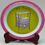 Farfurie Gemma, pentru copii, 21 cm, galben, 8Stx